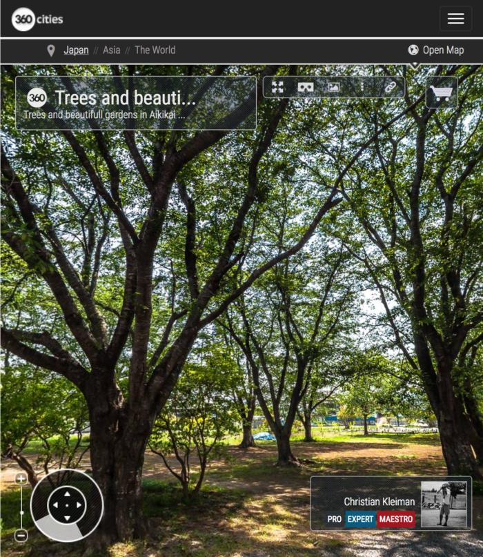 Ibaraki Dojo - Arboleda - Explora Iwama Dojo con Fotos Inmersivas 360º - AiKiDo Iwama - Ibaraki - Japón - Fotografía Panorámica 360º por © Christian Kleiman