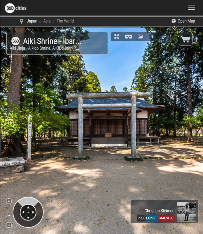 Aiki Jinja - Fundación Aikikai - Explora Iwama Dojo con Fotos 360º - AiKiDo Iwama - Ibaraki - Japón - Fotografía Panorámica 360º por © Christian Kleiman