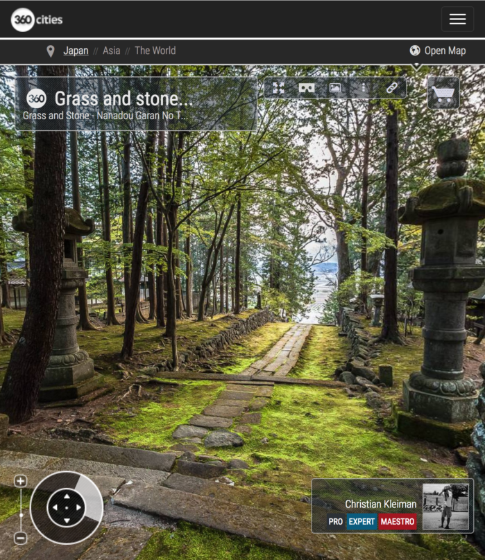 Grass and Stone - Teisyouji Buddhist Temple - Built in 1521. Area of Sakudaira in Nagano Prefecture, Japan. 360º Photography by © Christian Kleiman