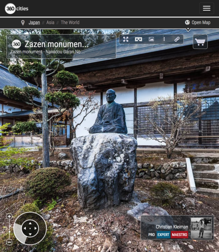 Zazen Monument - Teisyouji Buddhist Temple - Built in 1521. Area of Sakudaira in Nagano Prefecture, Japan. 360º Photography by © Christian Kleiman
