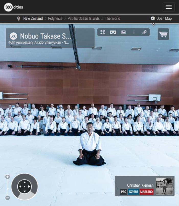 Nobuo Takase Shihan - Gasshuku Internacional de Nueva Zelanda - Foto Pano 360 realizado por © Christian Kleiman Fotógrafo y Autor