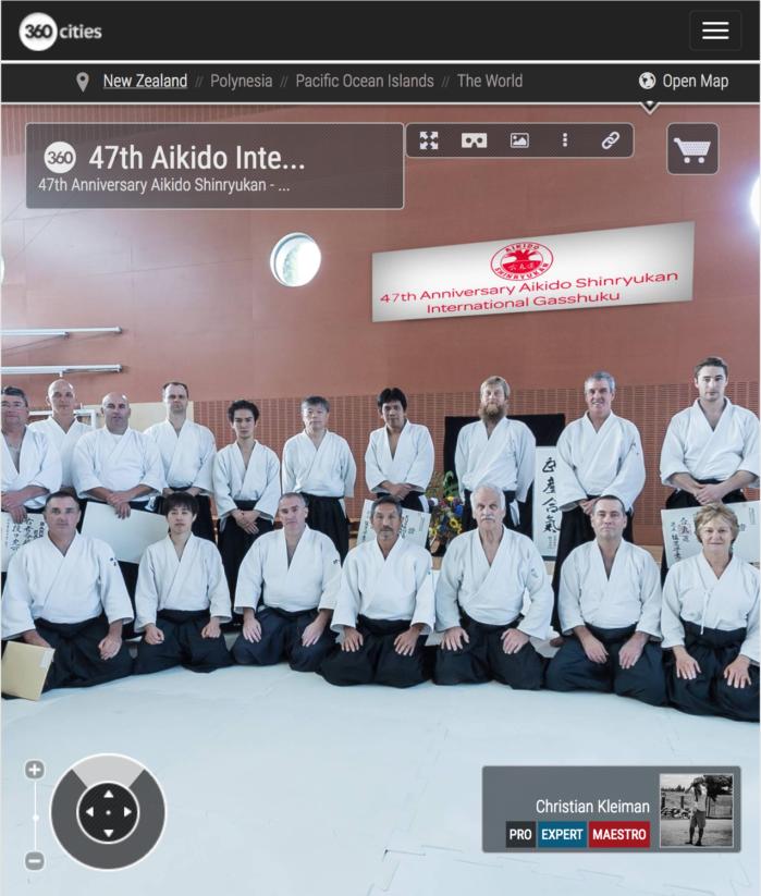 47 Gasshuku Internacional de Aikido en Nueva Zelanda - Foto Pano VR 360
