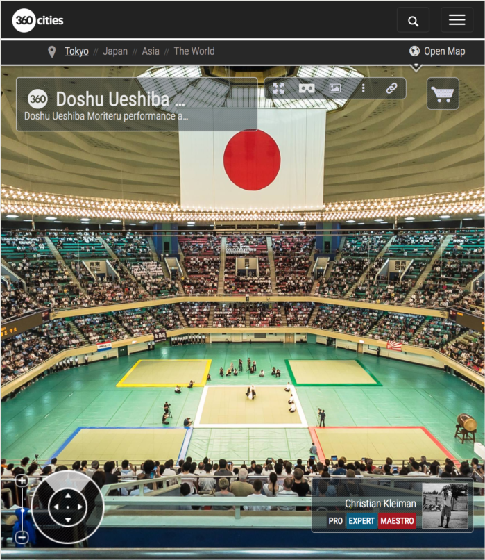The 55th All Japan Aikido Demo - Nihon Budokan 2017 - 360 VR Pano Photo
