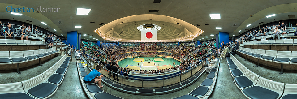 The 55th All Japan Aikido Demo - Nihon Budokan 2017 - 360 VR Pano Photo