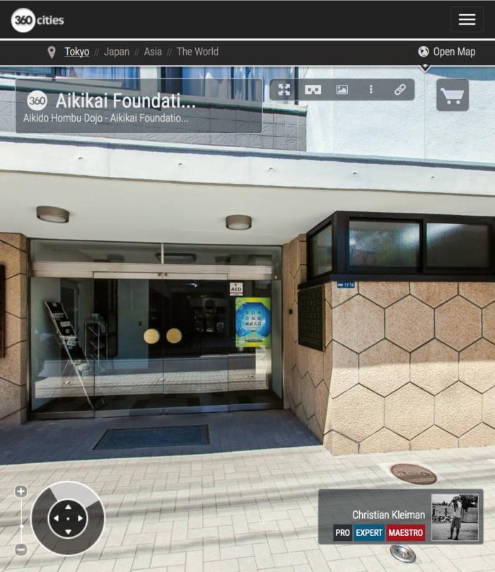 AiKiDo Hombu Dojo - Exterior - Explora mediante una visita virtual la Sede Internacional del AiKiDo en Tokio, Japón - Fotografía 360º © Christian Kleiman
