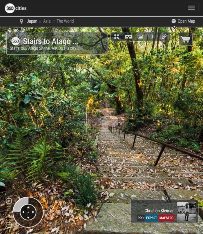 Atago Jinja - Escaleras - Explora el Santuario de Atago con fotos 360º - Iwama - Ibaraki - Japón - Fotografía Panorámica 360º por © Christian Kleiman