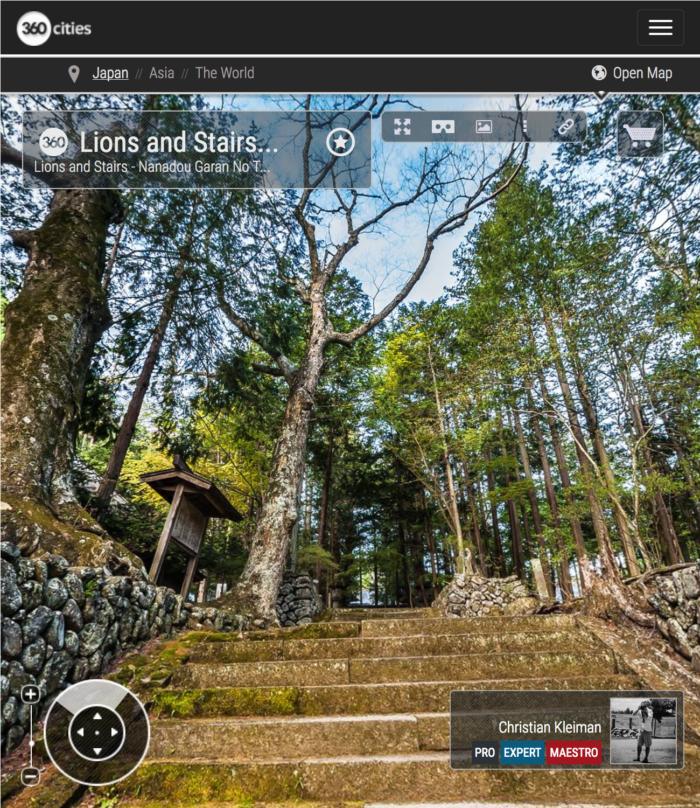 Templo Teisyouji - Leones y Escaleras - Explora con una visita virtual el Templo Budista Teisyouji ubicado en Saku, Japón - Fotografía © Christian Kleiman