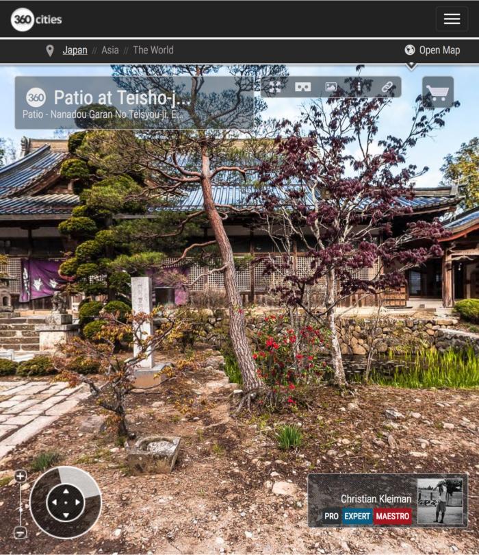 Templo Teisyouji - Patio - Explora mediante una visita virtual el Templo Budista Teisyouji ubicado en Saku, Japón - Fotografía © Christian Kleiman