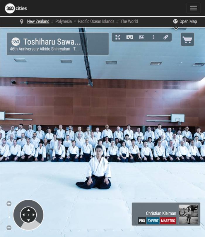 Toshiharu Sawada Shihan - Gasshuku Internacional de Nueva Zelanda - Foto Pano 360 realizado por © Christian Kleiman Fotógrafo y Autor