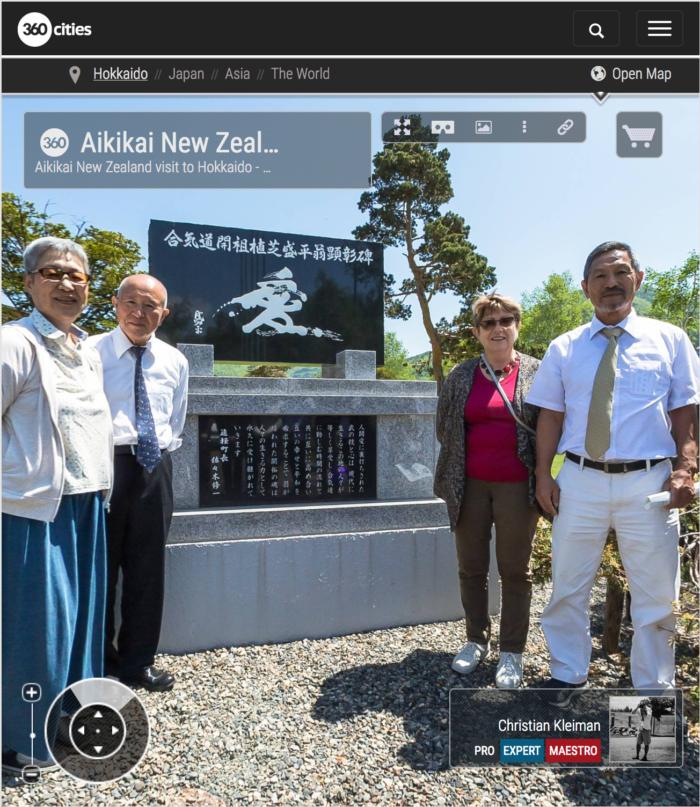 Visita de Aikikai Nueva Zelanda a Shirataki, Hokkaido - Foto Pano 360 VR