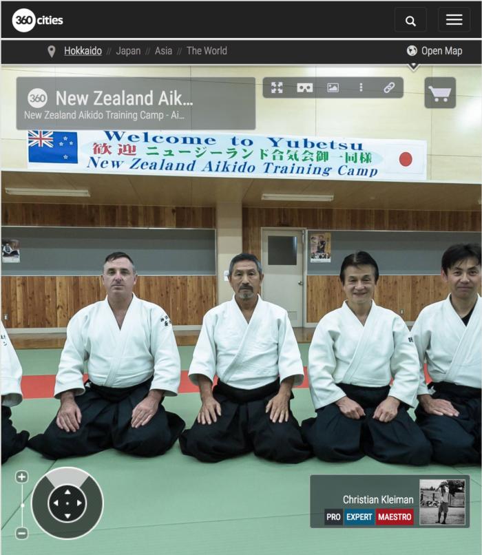 Campamento de Aikido Nueva Zelanda en Hokkaido - Foto Pano 360 VR