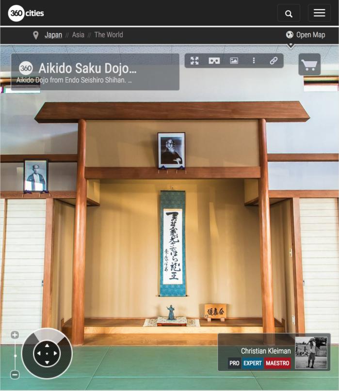 Endo Seishiro Shihan's Dojo - Aikido Saku Dojo - 360 VR Pano Photo
