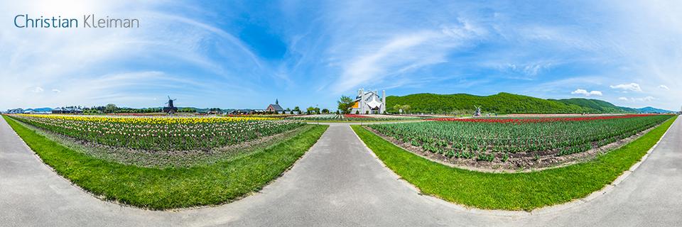 Museo Furusato - Parque de Tulipanes - Kamiyubetsu - Foto Pano 360 VR
